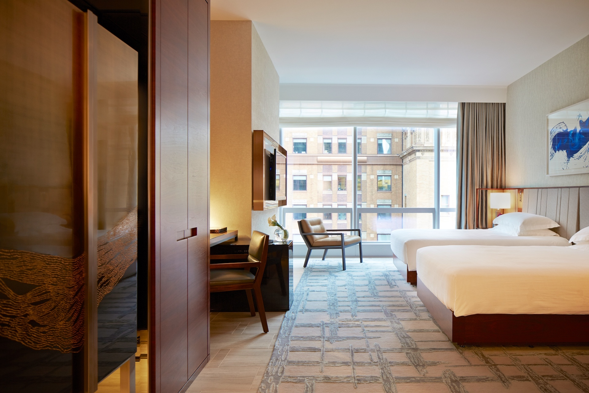 ADA Park Double Beds Roll-In Shower and Tub, Park Hyatt New York ...